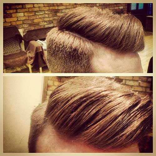 Short Side Long Top Haircut for Men