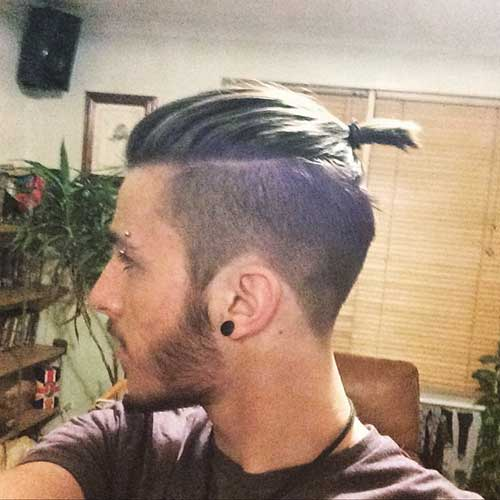 Side Shave Long Top Haircut Ideas for Men