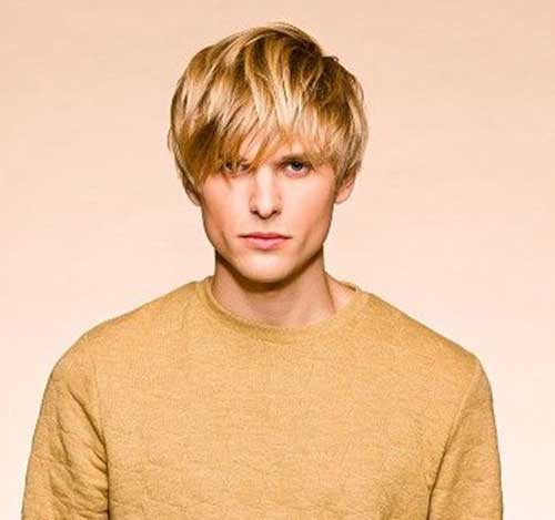 Straight Blonde Hairstyles Men