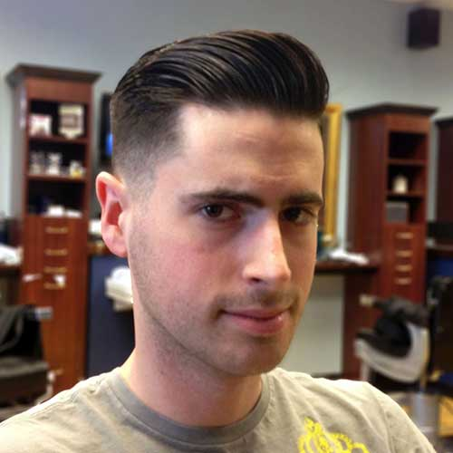Straight Pompadour Hairstyles Men