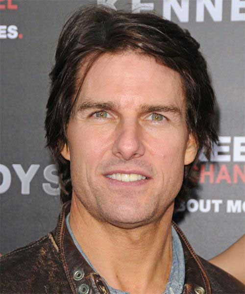 Tom Cruise Layered Short Haircut