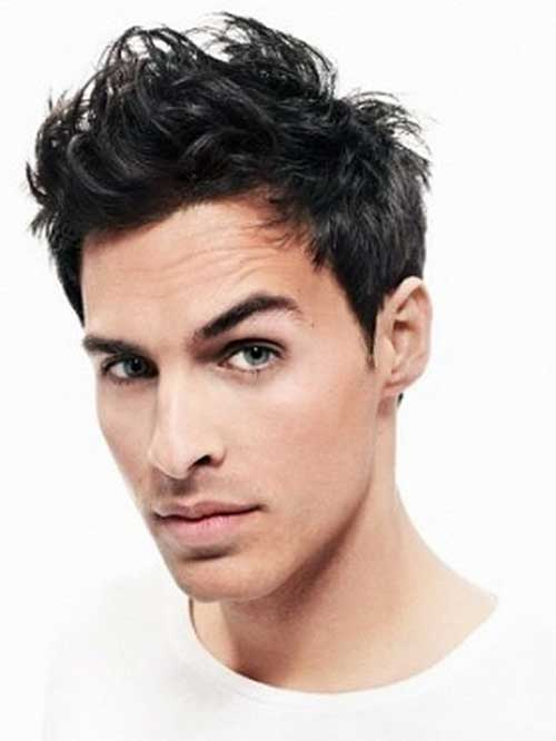Trendy Men Messy Dark Haircuts
