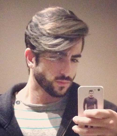 Trendy Mens Straight Fringe Hairstyles