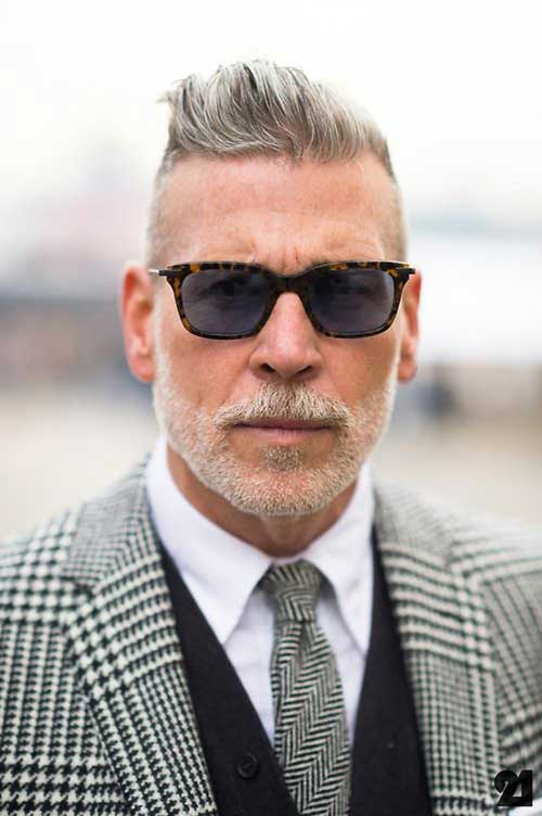 Very Short Grey Hairstyles Men