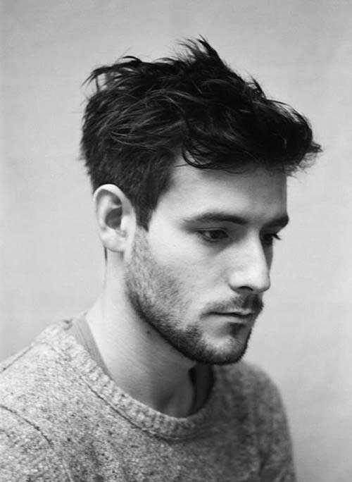 Wavy Dark Hairstyles for Men
