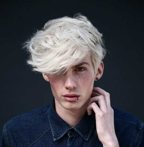 Wavy White Hairstyles Men