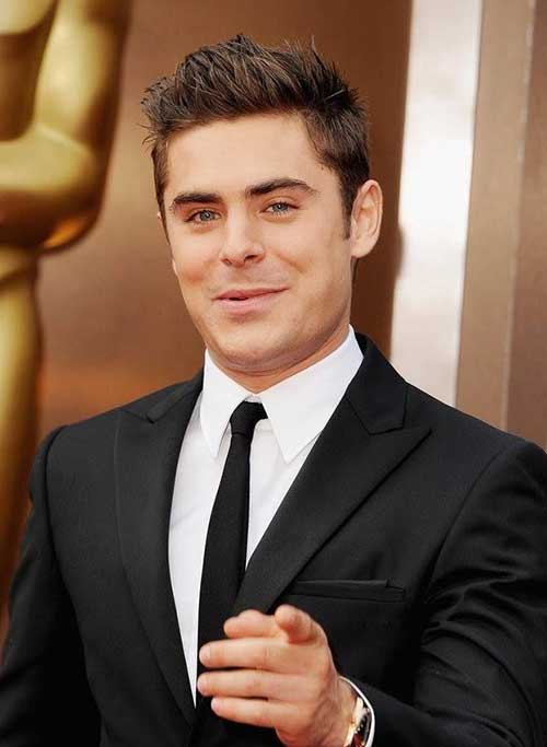 Zac Efron Layered Medium Hair