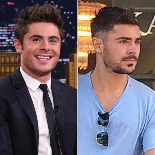 Zac Efron Faded Hairstyles