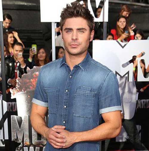 Zac Efron Trendy Hairstyles 2015