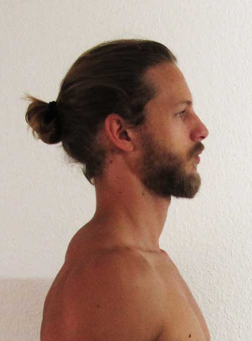 2015 Men Bun Hair From Back Look