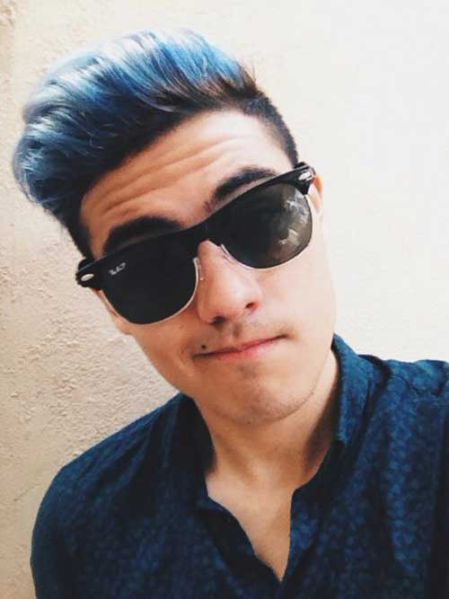 Blue Hair on Guys-6