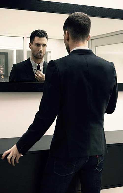 Adam Levine Classy Hair Back View