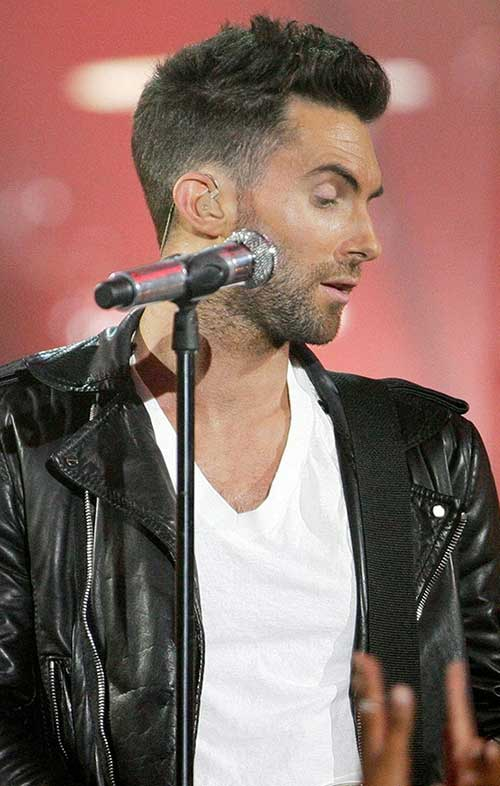 Adam Levine Faded Cut Hair