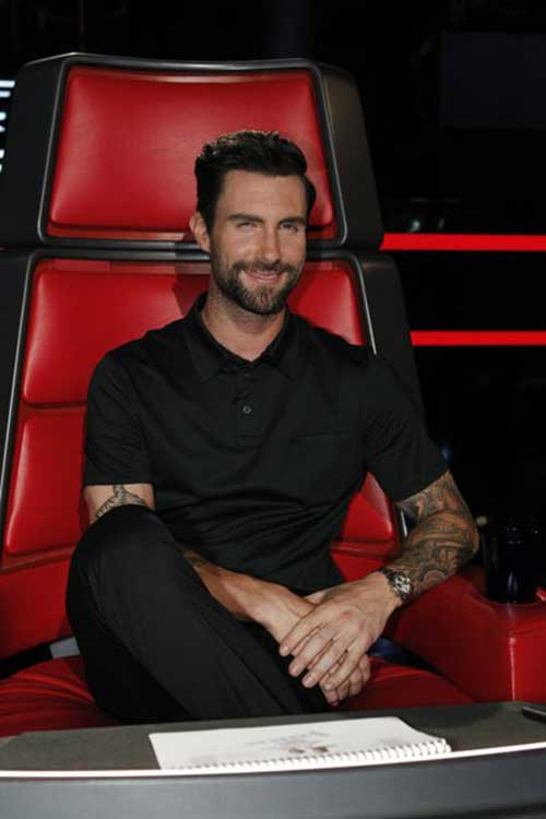 Adam Levine Hair Style Pictures