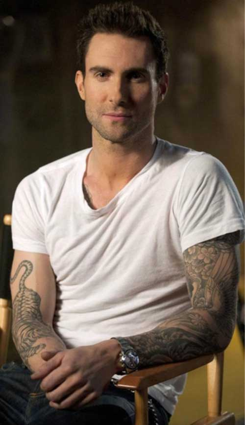 Adam Levine Trendy Hairstyles