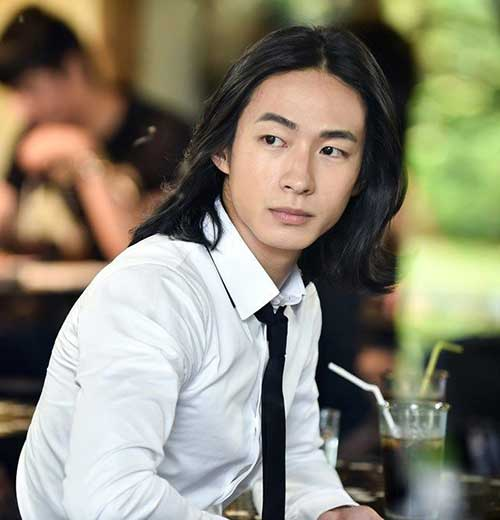 Asian Guys with Long Casual Hairstyles