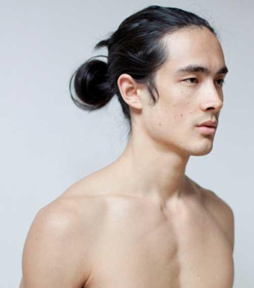 New Asian Guys with Long Hair Bun