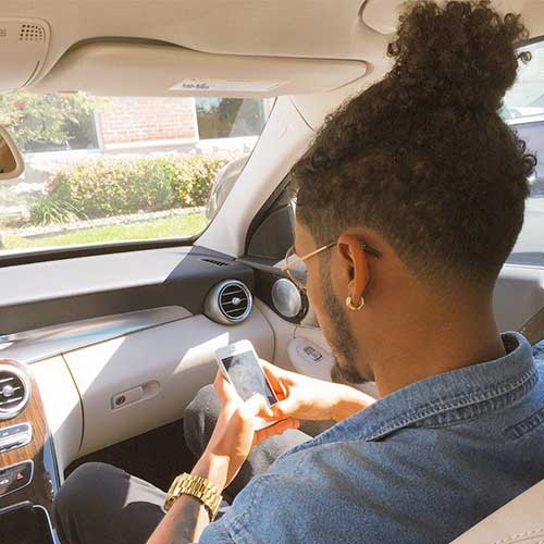 Black Men Curly Hairstyles Top Bun