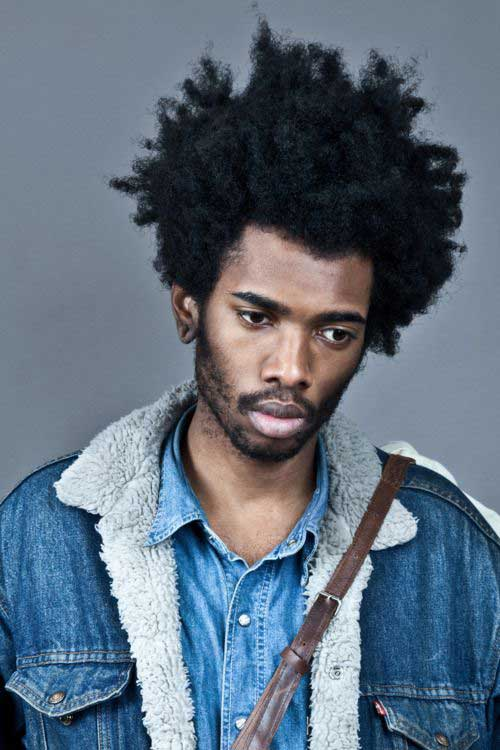 Black Men Thick Curly Dark Hairstyles