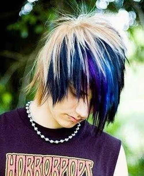 Blue Emo Guy Hairstyles