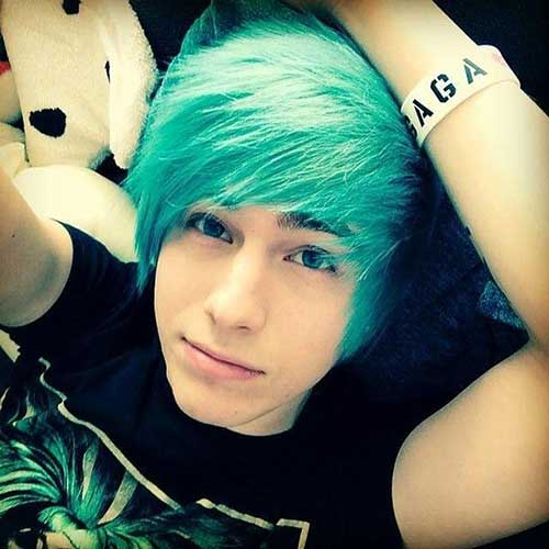 Best Blue Emo Hair for Boys