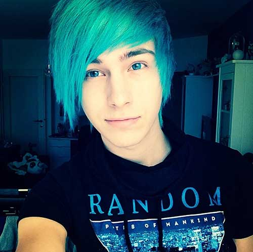Emo Blue Hair Guy