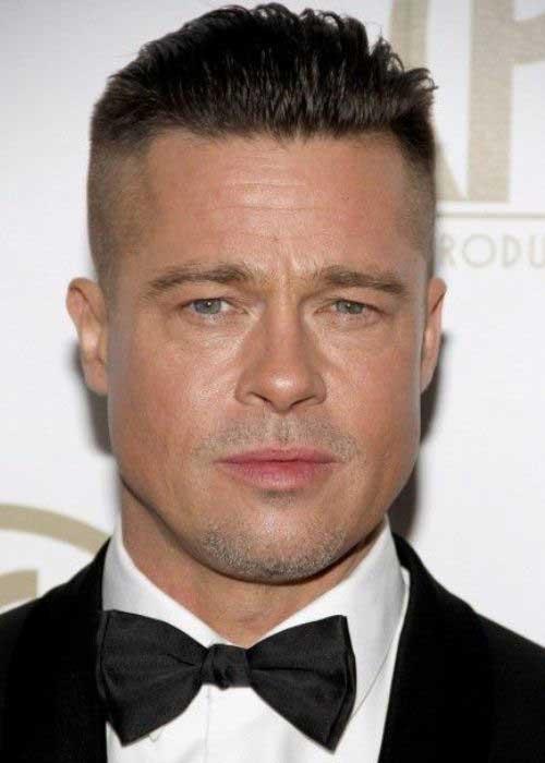 Brad Pitt Haircuts Undercut