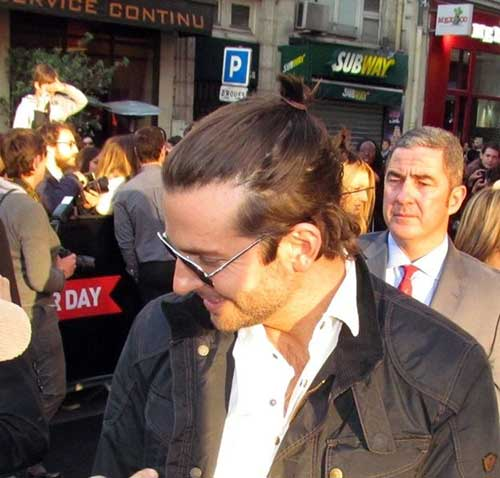Bradley Cooper Long Hair Bun
