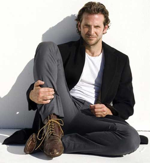 Bradley Cooper Wavy Long Hair Pictures