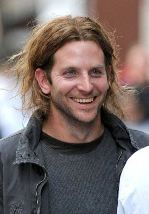 Bradley Cooper Long Messy Hairstyles