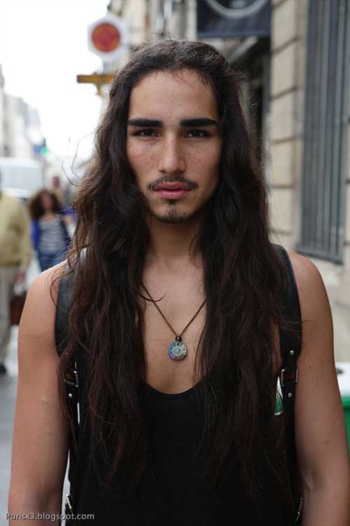 Cool Guy with Long Hairstyles