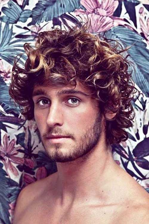 Cool Medium Curly Thick Hairstyles for Men
