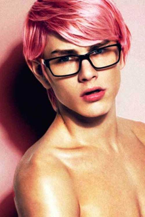 Crazy Mens Pink Hairstyles