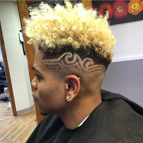 Crazy Shaved Blonde Hairstyles Men