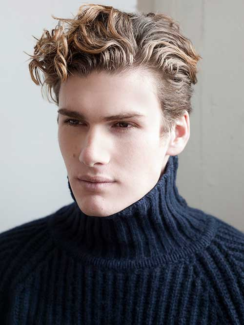 Curly Blonde Hairstyles for Men