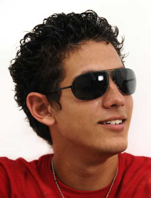 Curly Dark Hairstyles for Guys