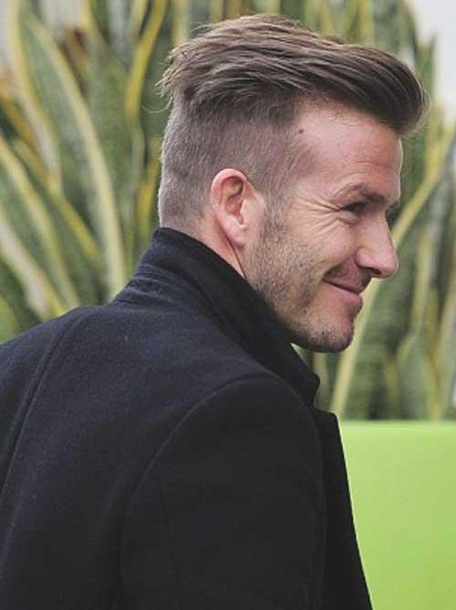 Back View of David Beckham Haircut 2014