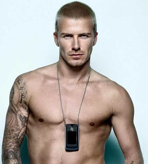 David Beckham Short Military Hair