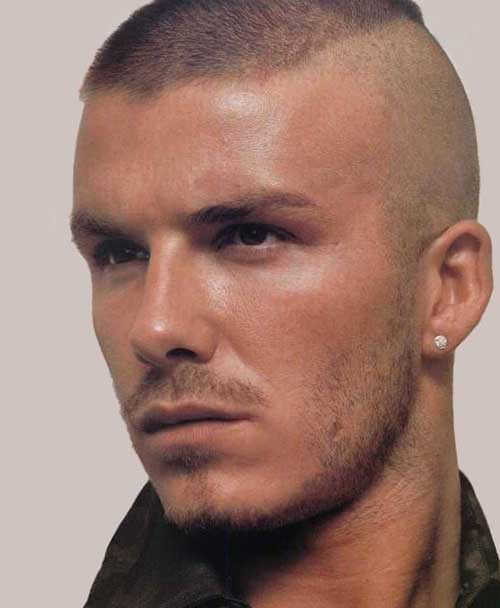 David Beckham Military Haircuts Pictures