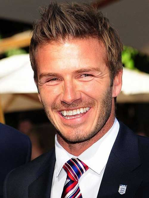 David Beckham Short Side Hairstyles 2014