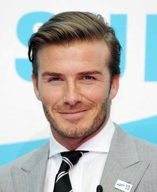 David Beckham Side Comb Hairstyles 2015