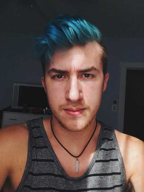 Guy Blue Hair