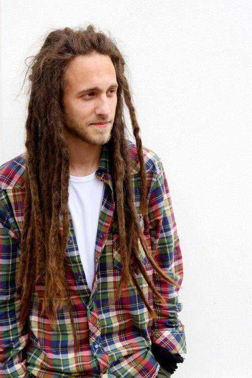 Guy with Long Hair Dreadlocks Styles