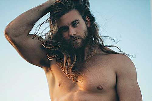Guy with Messy Long Hairstyles