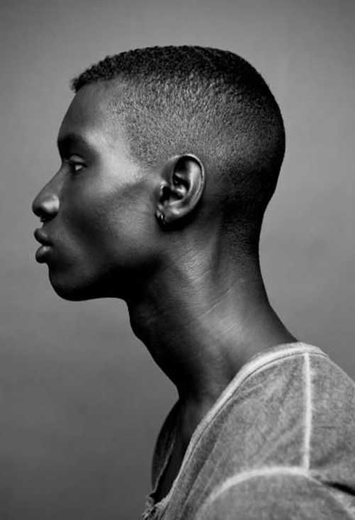 Side View of Haircut Style Black Men