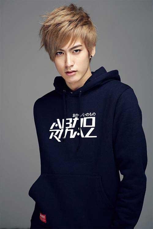 Korean Blonde Hairstyles for Men