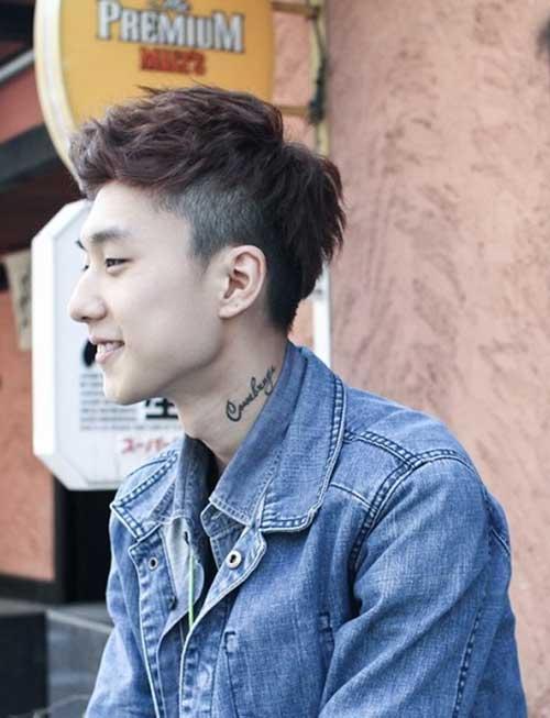 Latest Short Asian Hairstyles Men