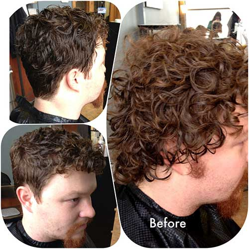 Light Brown Curly Hairstyles for Guys