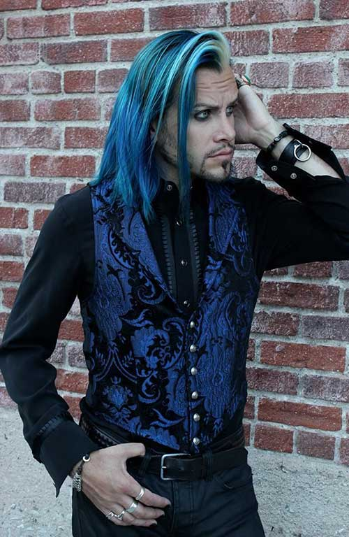 Long Blue Hairstyles for Guys