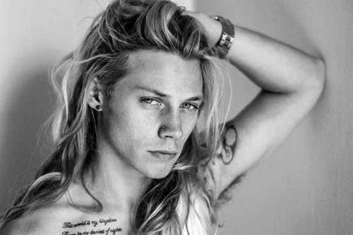 Long Blonde Hair Guy Style